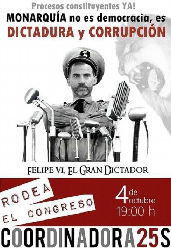 Cartel de la convocatoria de mañana de 'Rodea el Congreso'.