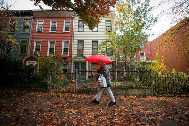 Fachada de la vivienda del alcalde en el barrio Park Slope.