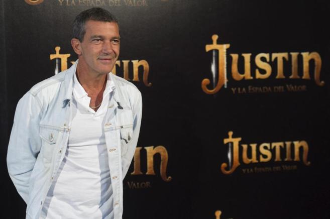 Antonio BAnderas en el estreno de 'Justin y la espada del...