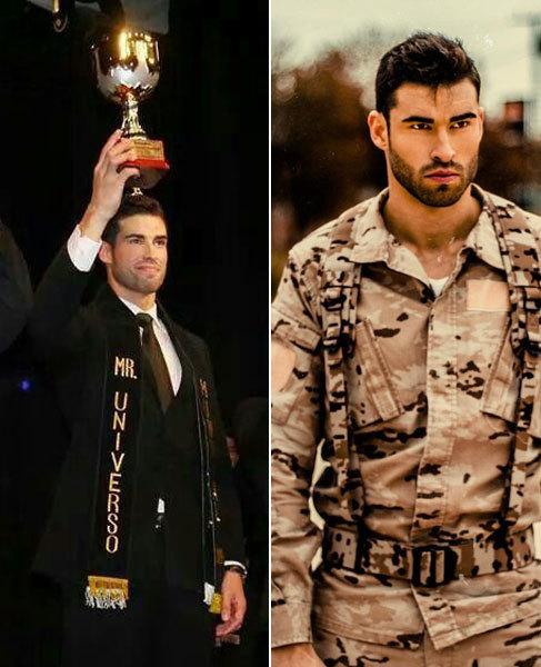 Rubén López, en el momento de ganar el certamen, y vestido con el...