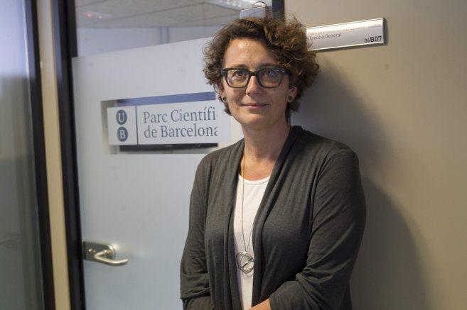 La directora de Biocat y del Parc Científic de Barcelona posa en la...