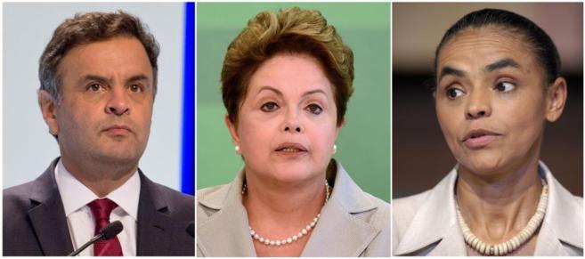 Foto de los principales candidatos a las elecciones de Brasil del...
