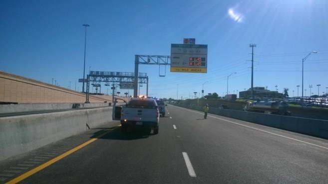 Obras en la autopista ETR-407 en Ontario, Canadá