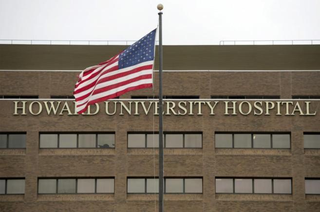 La fachada del Hospital de Washington donde está ingresado el...