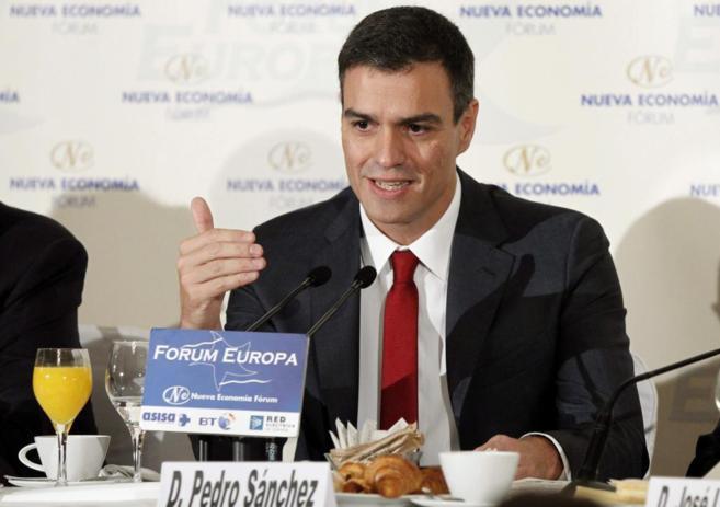 Imagen reciente del secretario general del PSOE en un desayuno de...