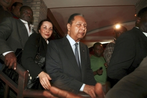 El dictador a su regreso a Haití en el año 2011.