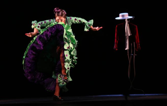 La bailaora Pastora Galván, durante su actuación en el Teatro de la...
