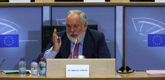 Miguel Arias Cañete durante su audiencia europea el pasado...