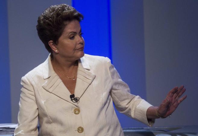 Dilma Roussef, en un debate televisado.