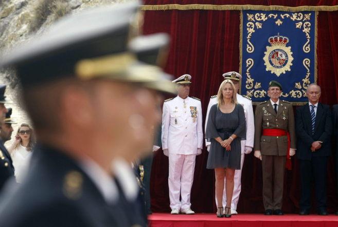 Sonia Castedo el pasado jueves durante el homenaje al patrón del...