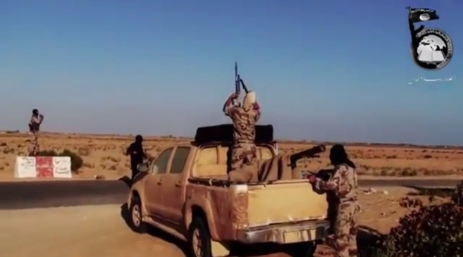 Captura del vídeo difundido por Ansar Beit al Maqdis