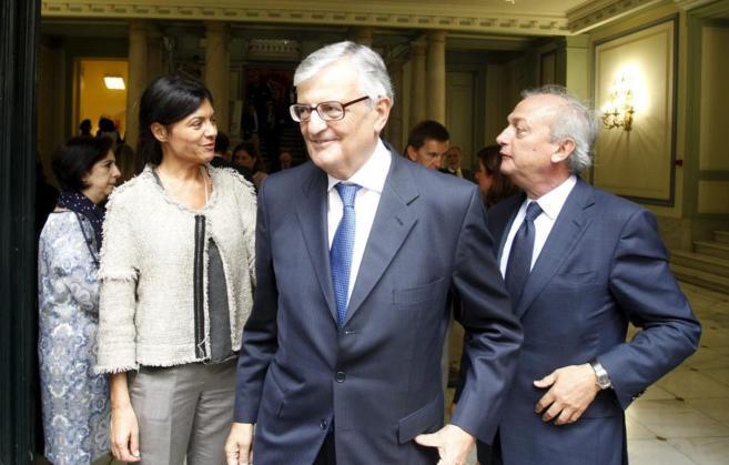 Eduardo Torres-Dulce, en primer término, en un acto en el Ministerio...