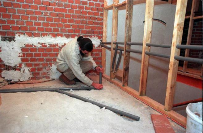 Obras de reforma de un piso, en una imagen de archivo.