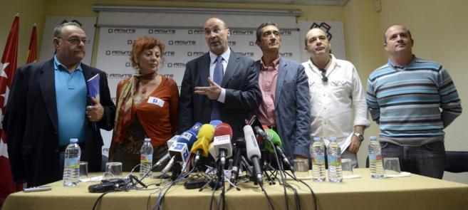 ueda de prensa de los sindicatos de la Mesa Sectorial del Servicio...