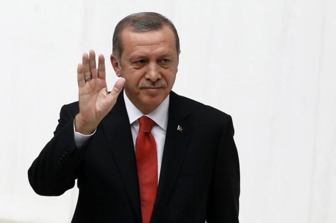 El presidente turco, Recep Tayyip Erdogan, en el Parlamento turco.