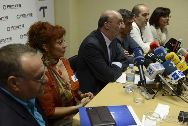 Rueda de prensa de los sindicatos de la Mesa Sectorial del Servicio...