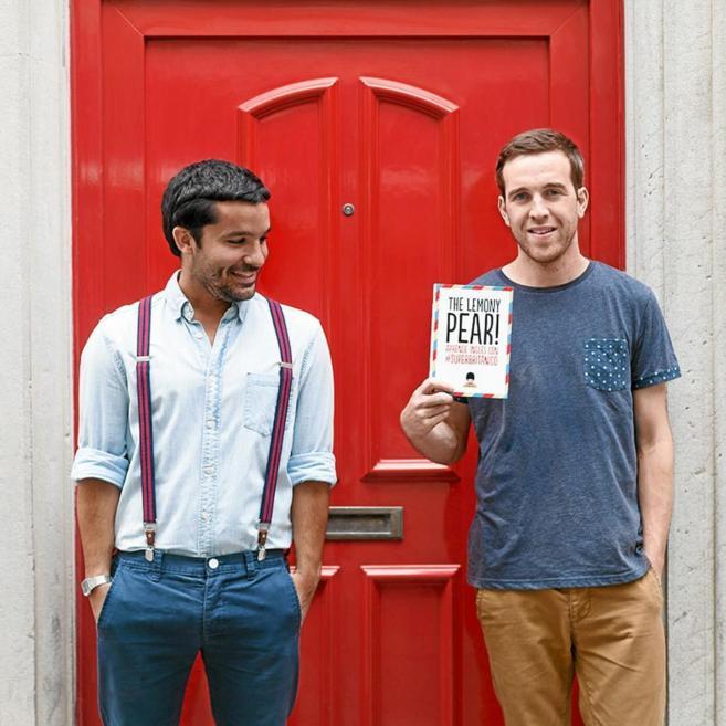 Daniel Vivas y Nicholas Isard, autores de 'The lemony pear'