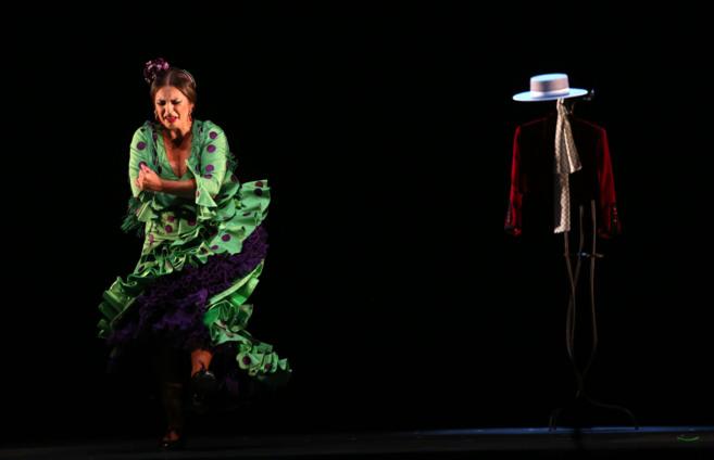 Pastora Galván, durante su actuación en la Bienal de Flamenco de...