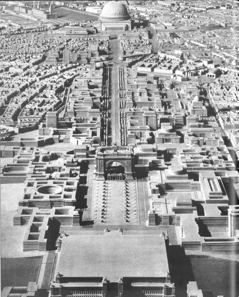 Maqueta de Albert Speer para el proyecto de Germania.