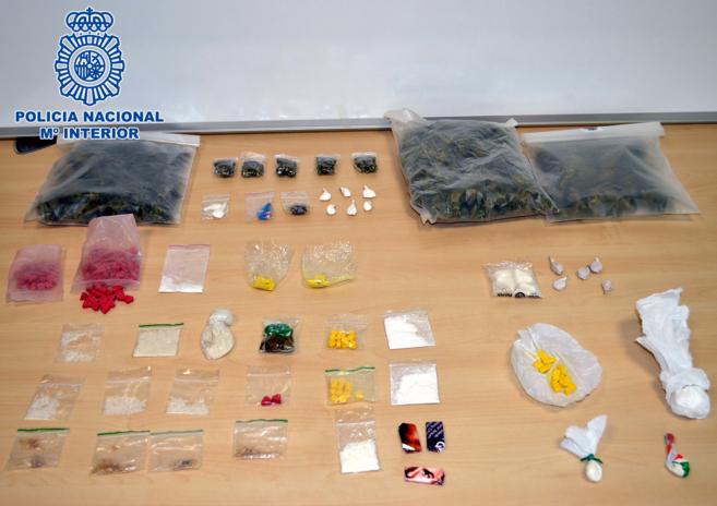 Toda la droga incautada por la Policía Nacional en la...