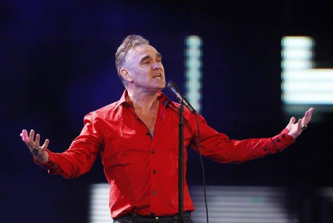 El cantante durante uno de sus conciertos