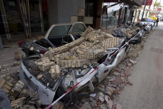 Destrozos del terremoto de Lorca.