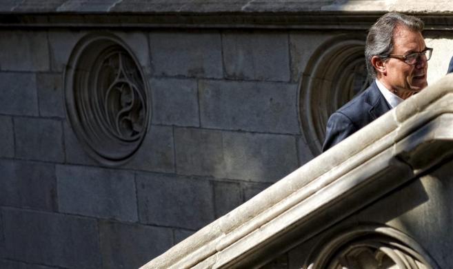 El presidente de la Generalitat, durante la reunión el pasado sábado...