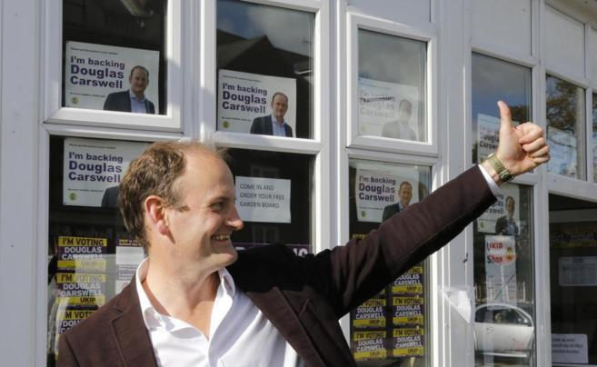 Douglas Carswell, aspirante a un escaño en el Parlamento de...