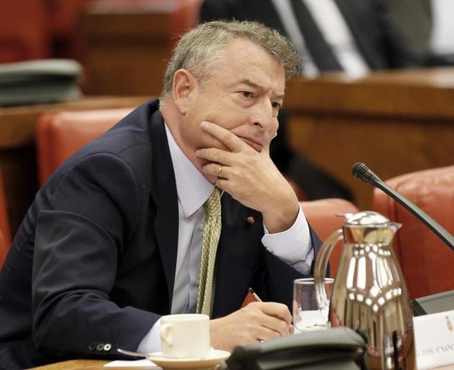 José Antonio Sánchez, durante su comparecencia.