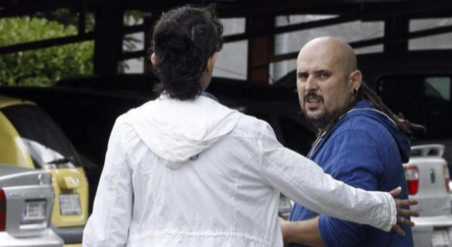 José Ramón Romero, hermano de la auxiliar con ébola, ayer, a las...