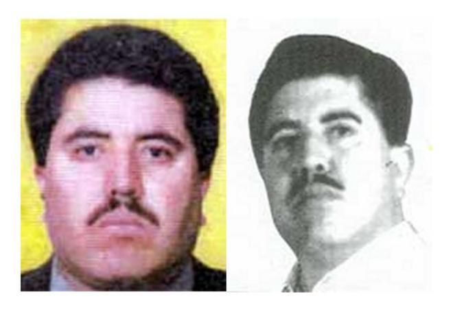 Foto compuesta por el FBI del narcotráfico Vicente Carrillo Fuentes,...