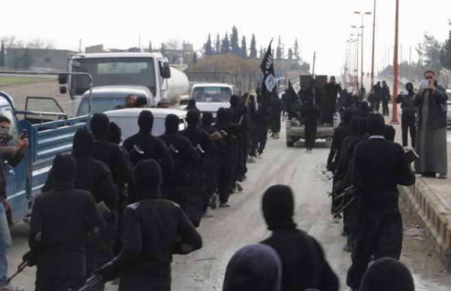 Miembros del Estado Islámico en Siria