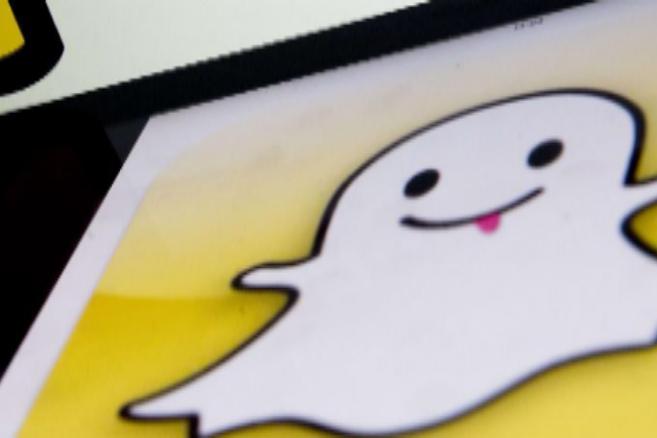 Logo de la aplicación Snapchat.