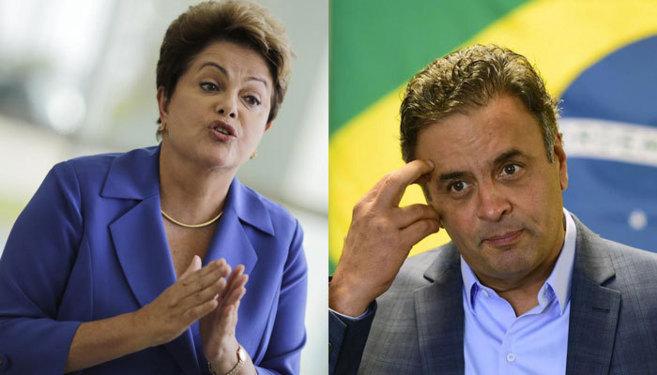 Dilma Rouseff y Aécio Neves.