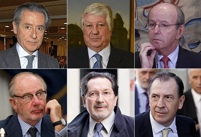 De izda. a dcha. y de arriba a abajo, Miguel Blesa, Arturo Fernández,...