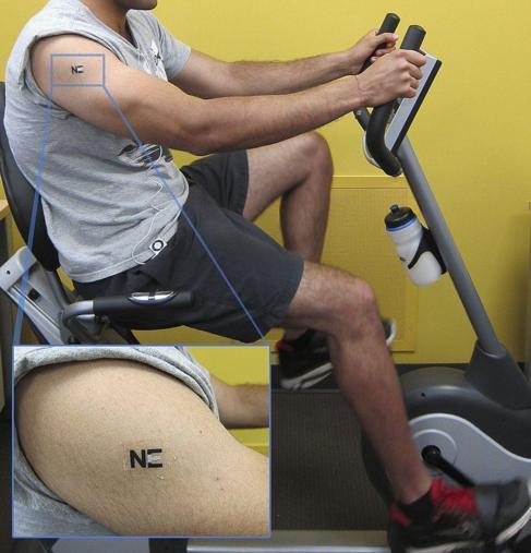 El sensor-tatuaje que produce energía a partir del sudor.