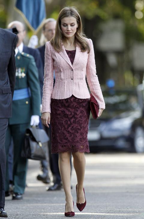 Doña Letizia, aún como Princesa, asistía el año pasado con un...