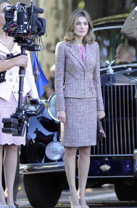 En 2011 también eligió un traje de chaqueta en tonos claros.