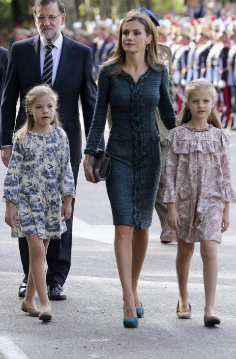 Era el primer año que Doña Letizia acudía al desfile del Día de la...