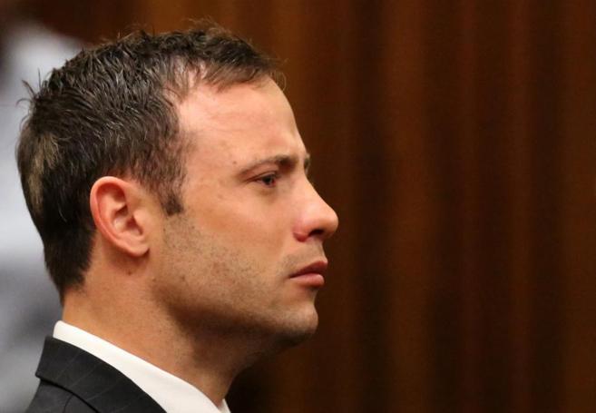 Pistorius, hace un mes, cuando le declararon culpable de homicidio...