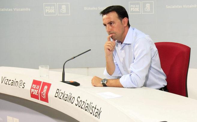 El secretario general del PSE-EE de Bizkaia, Mikel Torres.