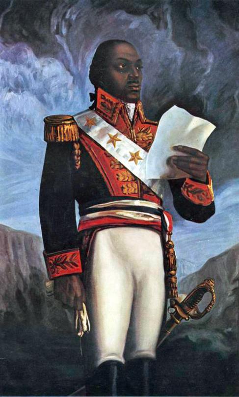 El líder de la revolución de Haití, Toussaint L'Ouverture.