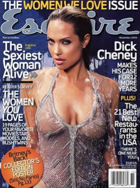 La actriz Angelina Jolie, que por entonces tenía 29 años, fue la...