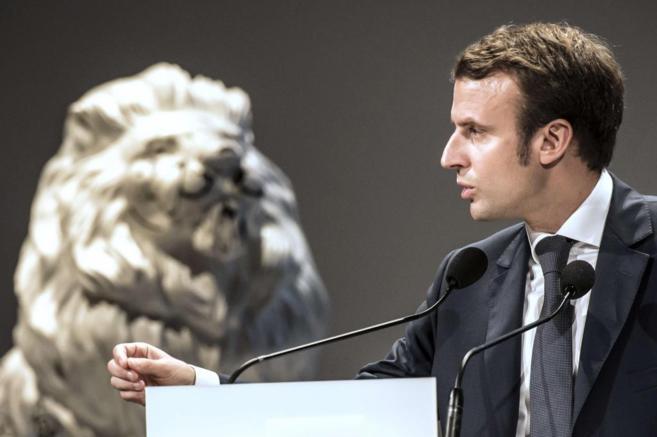 El ministro de Economía francés, Emmanuel Macron, durante un acto en...