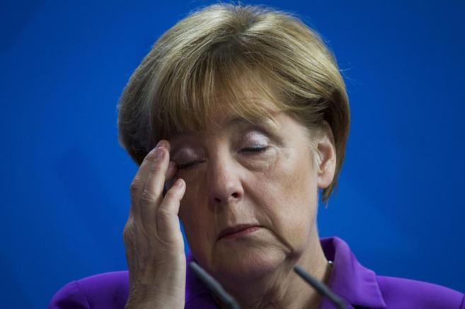La canciller alemana, Angela Merkel, durante un acto en Berlín.