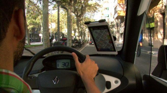 Un usuario prueba Mobility 2.0 recientemente en las calles de...