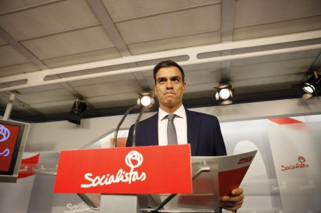 Pedro Sánchez durante un mitin.