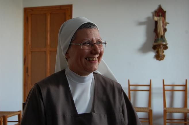 Carmen Zamora, religiosa de clausura en el Convento de las carmelitas...