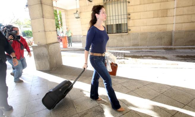 Mercedes Alaya llega a los juzgados de Sevilla este martes.
