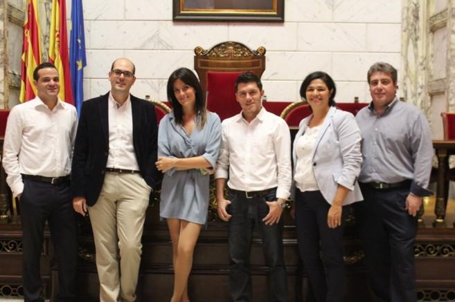 Los miembros del equipo de la candidatura de Cristina Seguí.